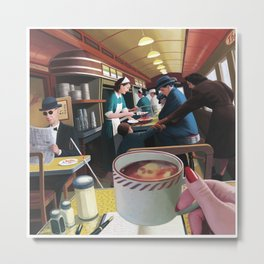 Blue Plate Special by Jeff Lee Johnson Metal Print