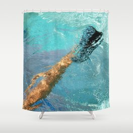Blue Heel Shower Curtain