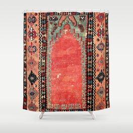 Sivas  Antique Cappadocian Turkish Niche Kilim Shower Curtain