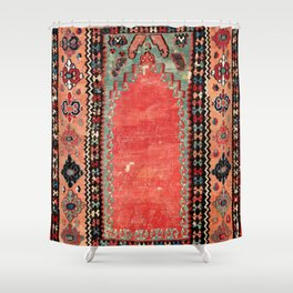 Sivas  Antique Cappadocian Turkish Niche Kilim Print Shower Curtain