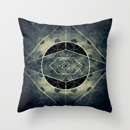 Sacred Geometry for your daily life -  SATURN EYE Throw Pillow
