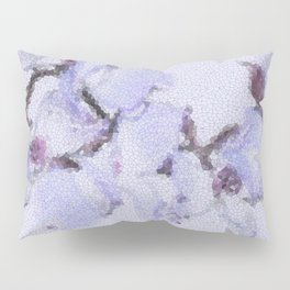 Dogwood Tree Flowers (stained glass-blue) Pillow Sham