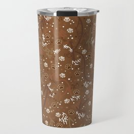 Chocolate Mocha Paw Prints Travel Mug
