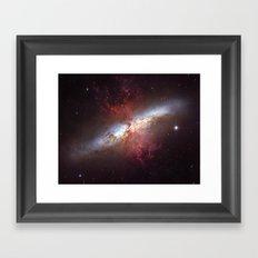 Starburst Galaxy M82 Framed Art Print