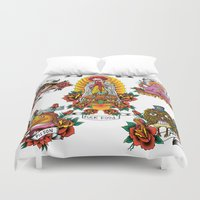 junk food Duvet Covers featuring Holy Junk by ERROR Design