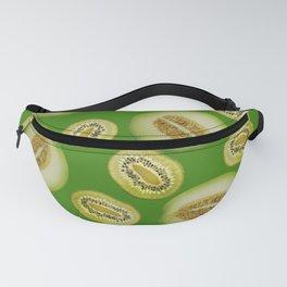 Kiwi - Honey Melon pattern green dark Fanny Pack
