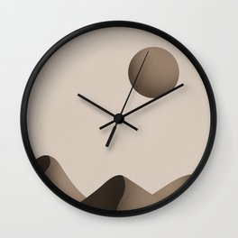Dusty Desert Wall Clock