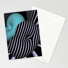 Klein's bottle in Op-Art design Stationery Cards