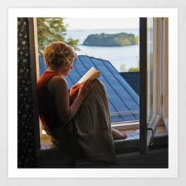 Book with a view Art Print