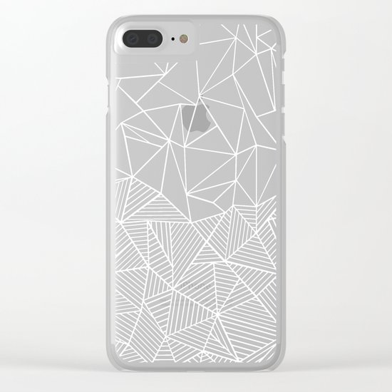 Ab Half And Half Electric Clear iPhone Case