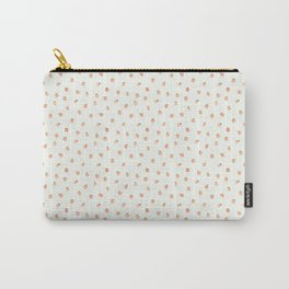 Sweet Peach Polka Dot, Mint Carry-All Pouch