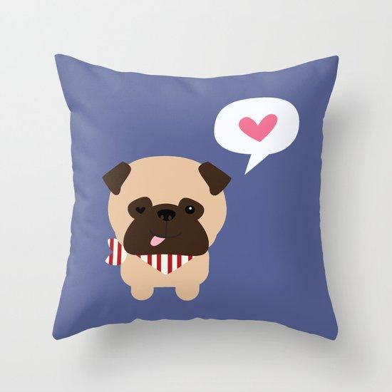 Pancho the Pug Throw Pillow