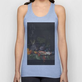Abraham Mignon - Still Life With Crabs On A Pewter Plate  1669 Unisex Tank Top