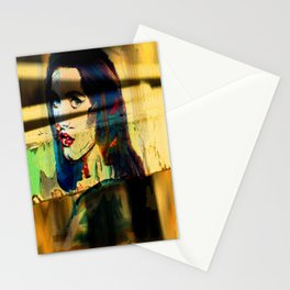 Painted Persephone On Rust Stationery Cards