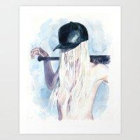 Knock-down Art Print
