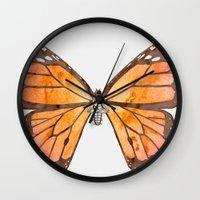 nirvana Wall Clocks featuring Caterpillar's nirvana by Benjamin Castle