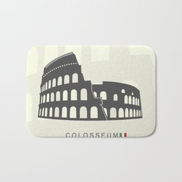 illustration of Roman Colosseum isolated on white background Bath Mat