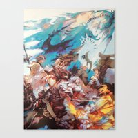 final fantasy Canvas Prints featuring Final Fantasy by Tamika
