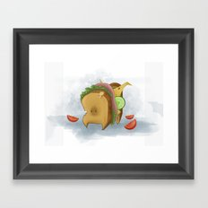 Sandwich Dog Framed Art Print