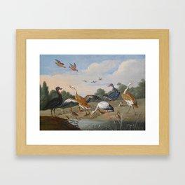 Jan van Kessel , Reiher und Enten, birds Framed Art Print