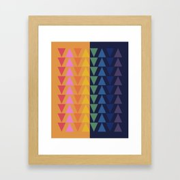 Day and Night Rainbow Triangles Framed Art Print