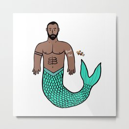 Beard Boy Merman: Nemo Metal Print