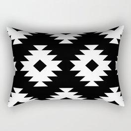 Southwestern Pattern 821 Black and White Rectangular Pillow