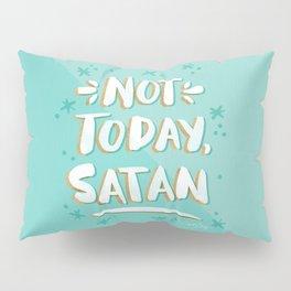 Not Today, Satan – Mint & Gold Palette Pillow Sham