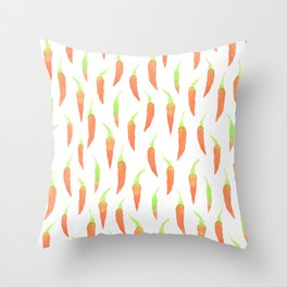 Chilies For Everyone! Throw Pillow