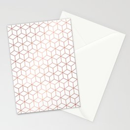 Gold Cubes Stationery Cards
