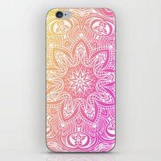 Orange and Pink Mandala iPhone & iPod Skin