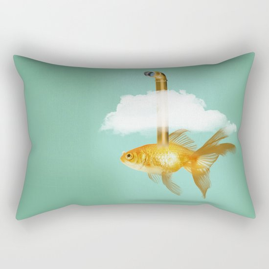 Periscope Goldfish Rectangular Pillow
