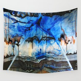 Blue Note Fire Wall Tapestry