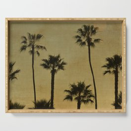 PALM TREES - TEXTURAL CALIFORNIA SUNSET Serving Tray