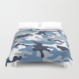 Blue and White Camo Duvet Cover