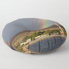 Rainbow over Lahaina Floor Pillow