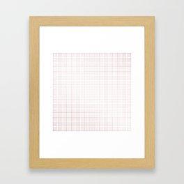 Simply Grid Lines in Rose Gold Sunset Framed Art Print