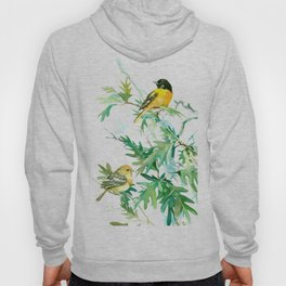 Baltimore Oriole Birds and White Oak Hoody