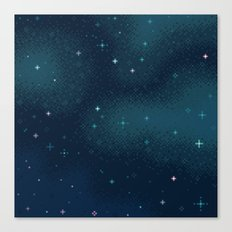 Pixel Marine Starlight Galaxy Canvas Print