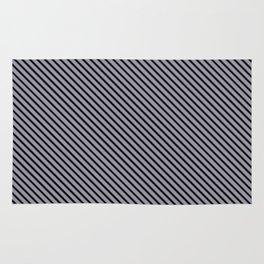 Lilac Gray and Black Stripe Rug