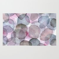 planets Area & Throw Rugs featuring Purple Planets by Jane-Beata