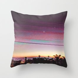 Cardiff Sunset Throw Pillow