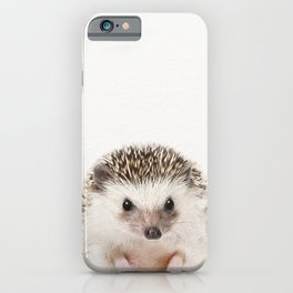 Baby Hedgehog, Baby Animals Art Prints by Synplus iPhone Case