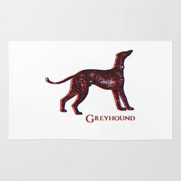Greyhound Dog | Animal Art Design Rug