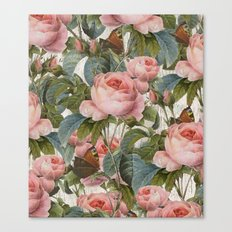 Floral roses pattern Canvas Print