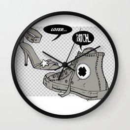 Talking Shoes  Wall Clock