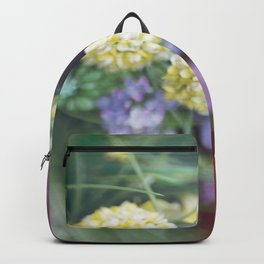 Garden blured flowers Backpack