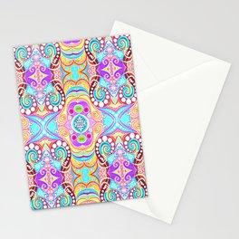 Light Blue Symmetry Stationery Cards