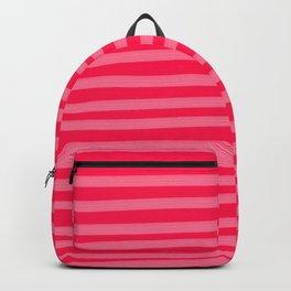 Fuchsia Brush Stroke Stripes Backpack