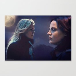 Swan Queen - Lovers don't finally meet somewhere. They're in each other all along. Canvas Print